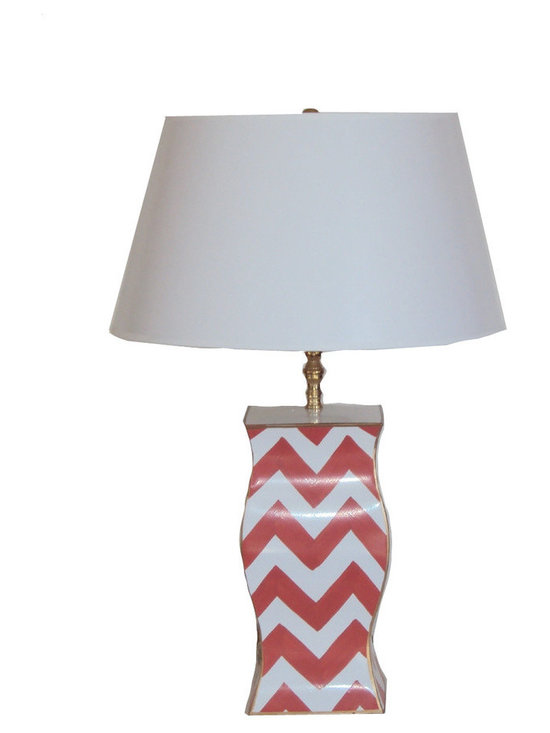 Orange Bargello Lamp -