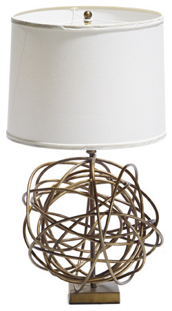 Martha Sturdy brass lamp with white shade modern-table-lamps