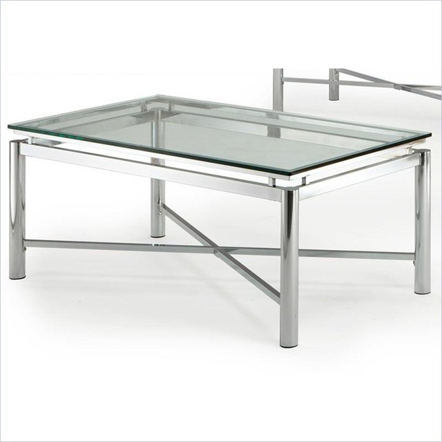 Steve Silver Company Nova Glass Top Cocktail Table Contemporary Coffee Tables Other Metro