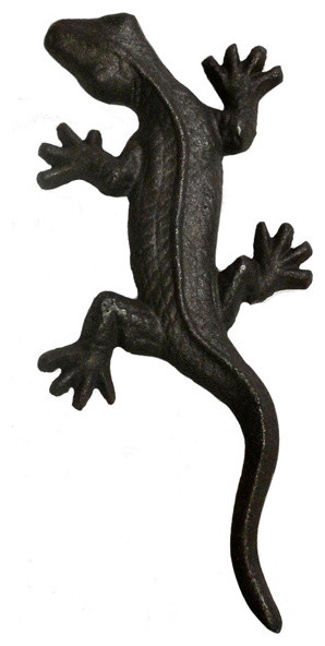 Cast Iron Tropical Lizard Door Pull tropical-cabinet-and-drawer-handle-pulls