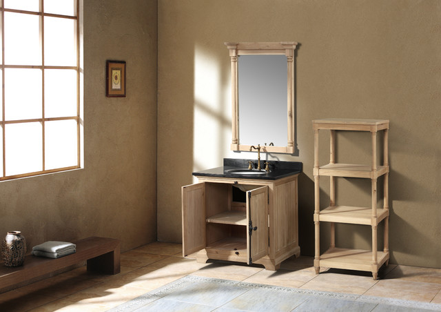 "35.5"" Alvito Single Bath Vanity - Natural Oak traditional-bathroom-vanities-and-sink-consoles"