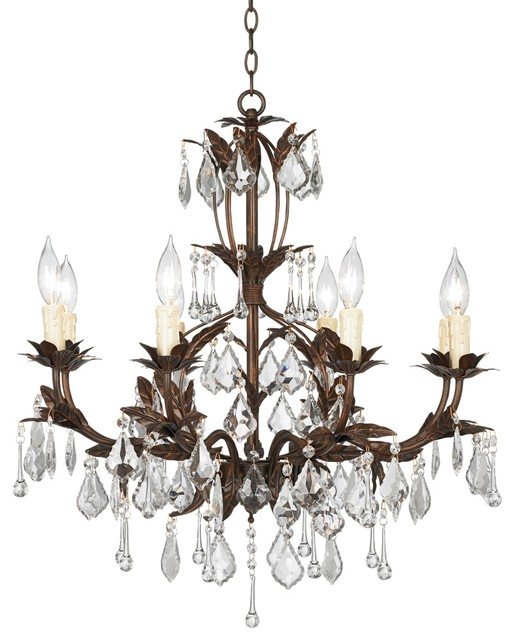 "Traditional Kathy Ireland Venezia Bronze 8 Light 26"" Wide"
