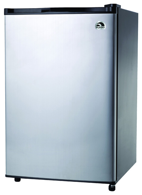 Igloo 4.6 Cubic-Foot Stainless Steel Door Refrigerator contemporary-small-kitchen-appliances