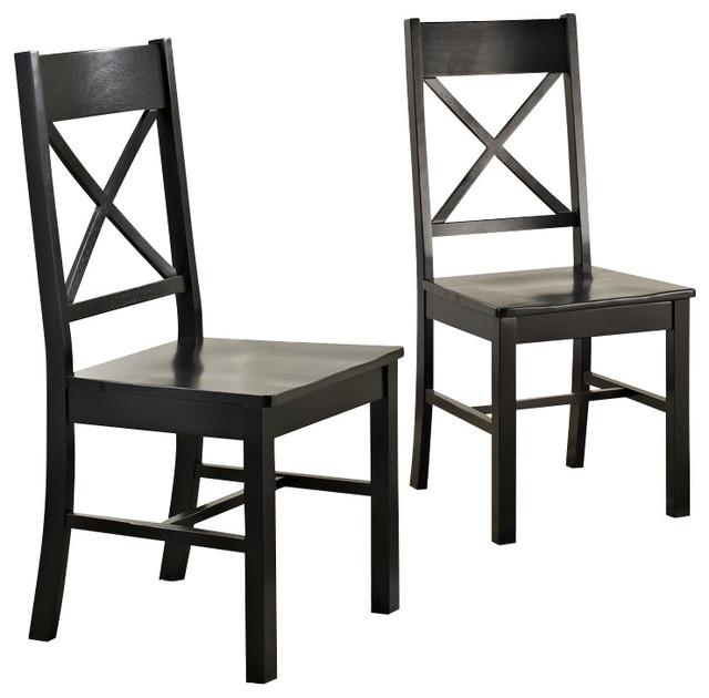 Walker Edison Millwright Dining Chair In Black Set Of 2