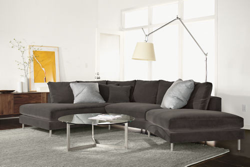 Hayes Sectional Sofa with Right-Back Angled Sofa - modern ...