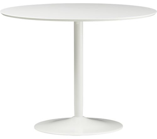 Odyssey White Dining Table Cb2 Modern Dining Tables