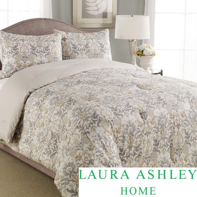 Laura Ashley Penelope 3-piece Comforter Set contemporary-duvet-covers