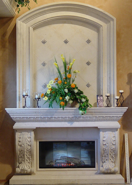 Realm of Design Cast Stone & Precast architectural elements traditional-indoor-fireplaces