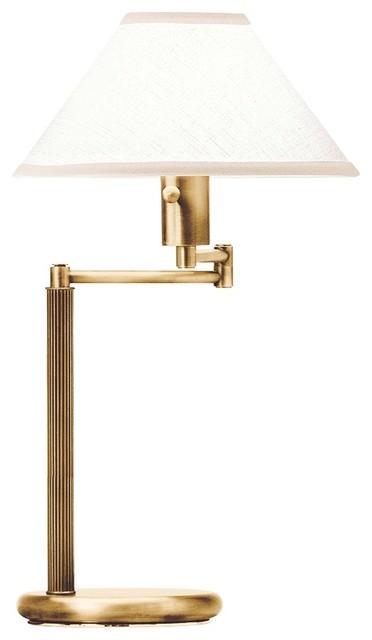 home office swing arm antique brass desk lamp