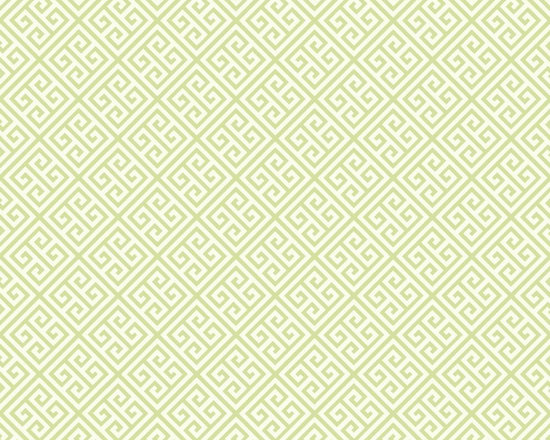 Mint Greek Key Vibe Wallpaper -