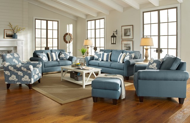 Beach style sofas for Beach style living room furniture