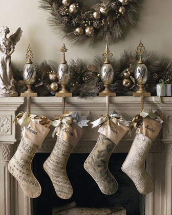 French Laundry Home Ivory Matelasse Stocking, Personalized traditional-holiday-decorations