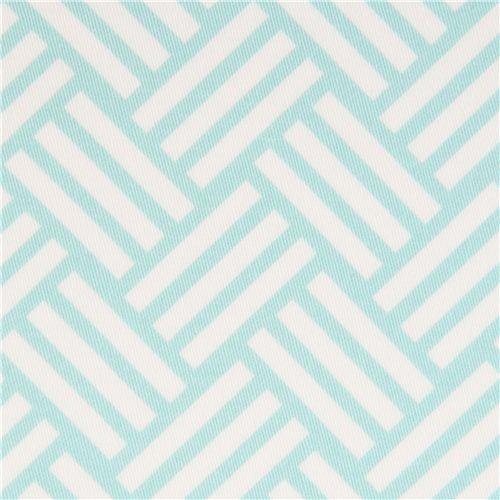 light blue stripes cotton sateen fabric Michael Miller fabric