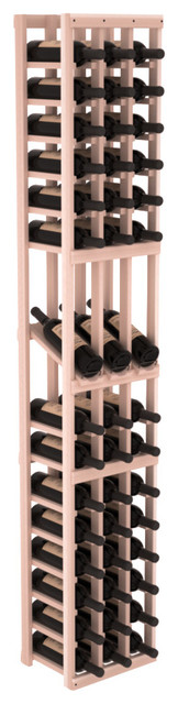3 Column Display Row Wine Cellar Kit in Redwood, White Wash contemporary-wine-racks