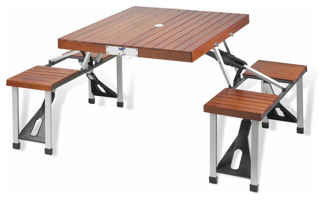 Folding Wooden Picnic Table for Four contemporary outdoor tables