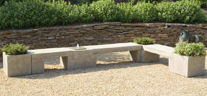 Modular Planter/Bench/Fountain System contemporary-outdoor-stools-and-benches