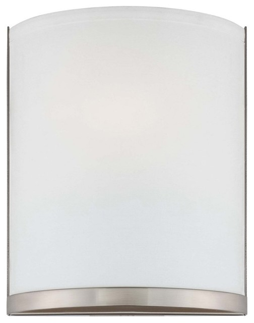 George Kovacs by Minka P512-084-PL 1-Light Wall Sconce - Brushed Nickel - 8W in. modern-wall-lighting