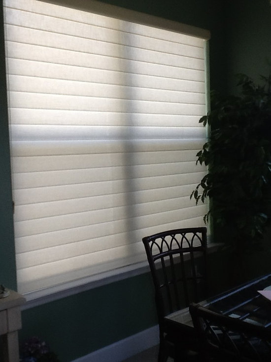 Blinds & Shades - Gorgeous Hunter Douglas silhouette in the closed position for privacy.