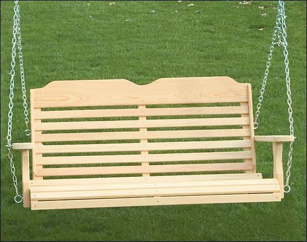 cypress crossback porch swing contemporary patio