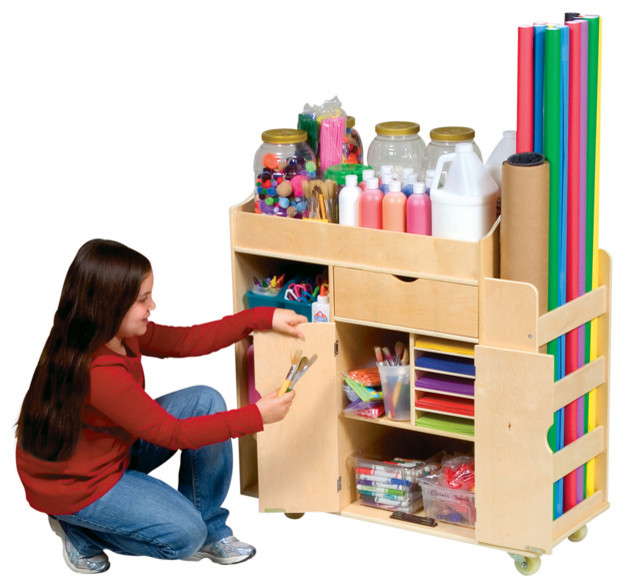 Guidecraft Ulitmate Art Cart - Modern - Toy Organizers - other metro - by Children's Organizers