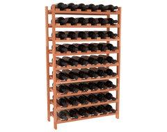 54 Bottle Stackable Wine Rack in Premium Redwood, (Unstained) contemporary-wine-racks