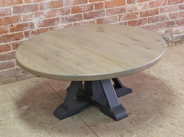 Round Coffee Table With Pedestal Farmhouse Coffee