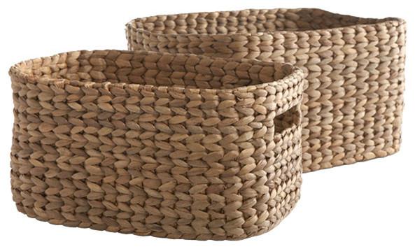 Rectangular Storage Nesting Baskets traditional-baskets