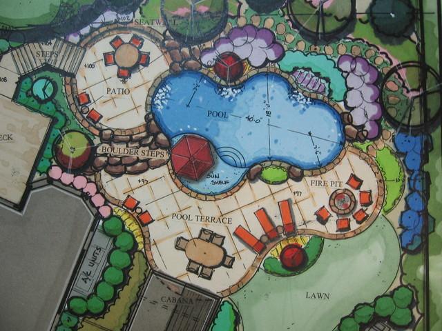 Conceptual Pool Plan traditional