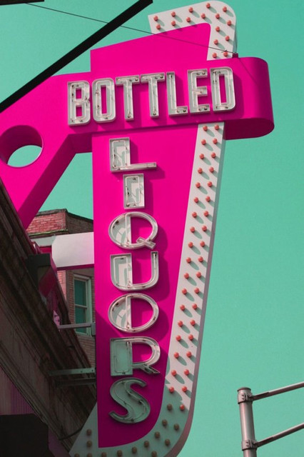 Bottled Liquors, no.2, 8x10 Metallic Print eclectic artwork
