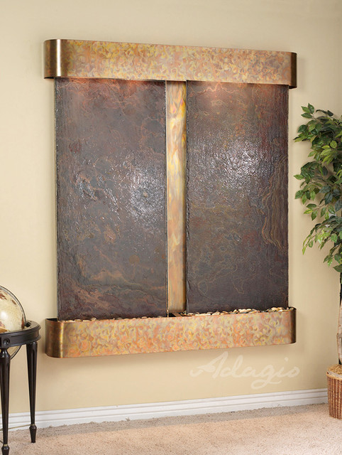 Slate wall mounted water features the cottonwood falls - Wall mounted water feature ...