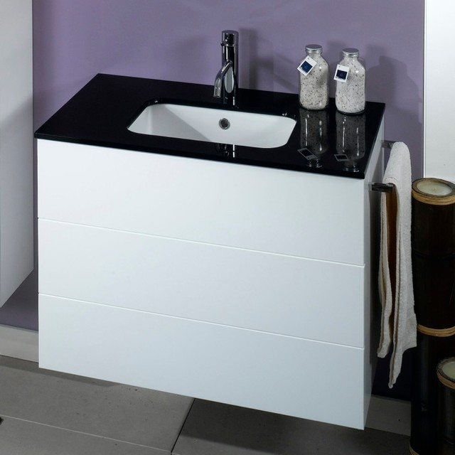 2 drawers vanity cabinet with undermount sink