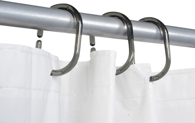 Clear shower curtain rod