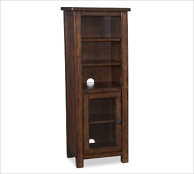 Benchwright Media Tower, Rustic Mahogany stain - Traditional - Storage Cabinets - by Pottery Barn