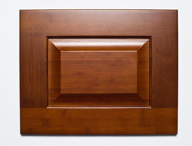 Gunstock Raised Panel Bamboo Kitchen Cabinets kitchen-cabinetry