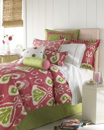 Jane Wilner Madison Ikat Bed Linens Full/Queen Ikat Duvet Cover, 86 x 86 traditional duvet covers