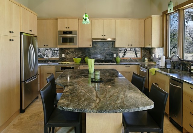 Artisan Stone Collection granite in Rainforest - contemporary ... - Contemporary Granite Kitchen