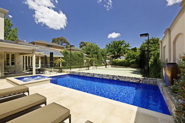 An Elegant Courtyard Pool Contemporary Pool