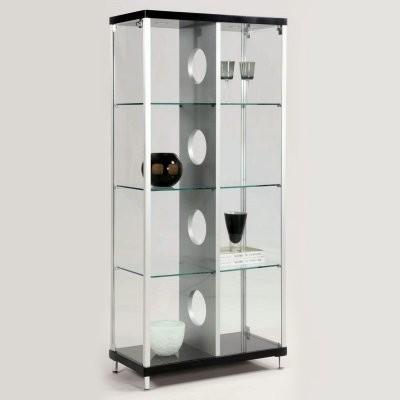 Chintaly Phoenix Modern Locking Glass Curio Cabinet - Modern - Furniture - by Hayneedle