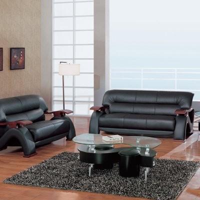Sebastian Cappuccino Leather Sofa Set modern-sofas