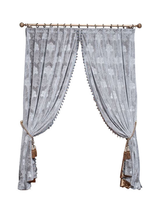 """Ulinkly.com - Grey Velvet King (1 Panel Drapery with Lining, each panel 54""""W 96""""L) - Ulinkly is for affordable custom-made luxurious window curtains. We partner exclusively with top premium factories(top 1-2 sellers in international market) selling high-end custom-made curtains with top quality and hundreds high-end styles (Drapery, Voile and Valance) selection in North America."""