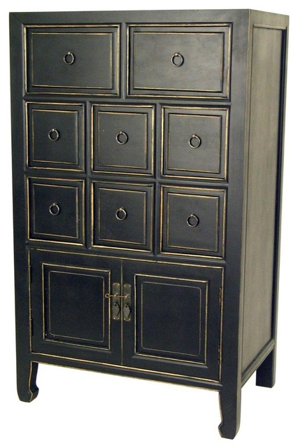drawer chest black traditional dressers chests and bedroom armoires