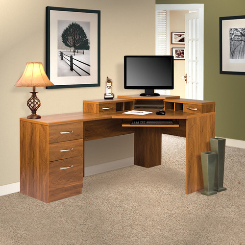 Office Adaptations Reversible Corner Desk Office Suite - Modern - Home