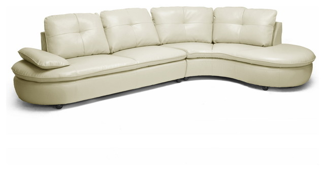 baxton studio hilaria beige leather modern sectional sofa