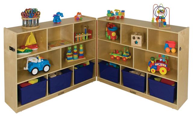 Ecr4kids home kids room toy storage 36 fold and lock - Toy storage furniture living room ...