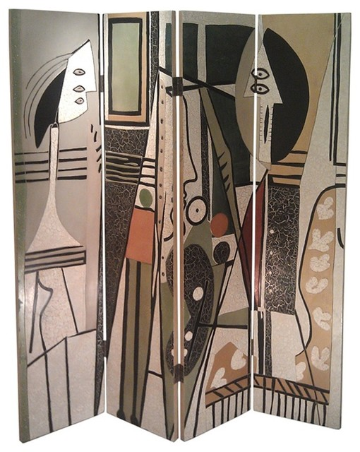 Picasso Theme Folding Screen Eclectic Screens And Room