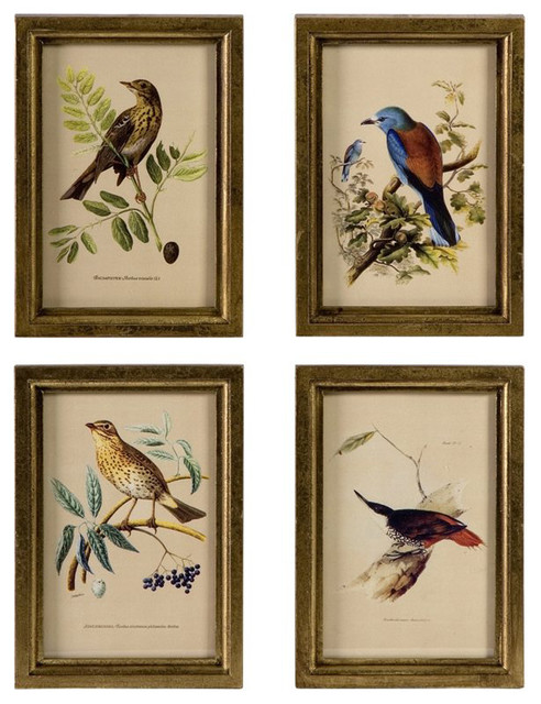 Calima Bird Wall Decor   Set Of 3 : Imax corporation wooden bird plaques set of