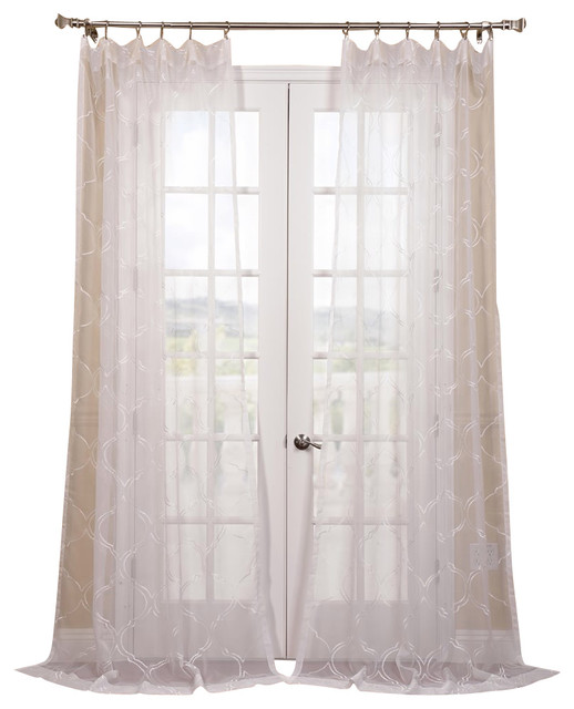 florentina white embroidered sheer curtain contemporary