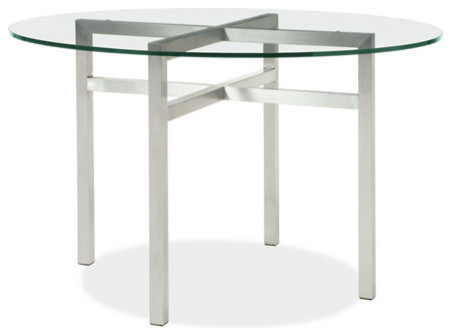 Benson Stainless Steel Round Table Modern Dining Tables By Room B