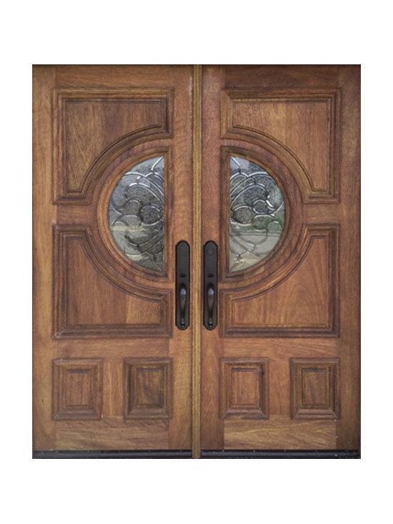 Mahogany entry double doors -