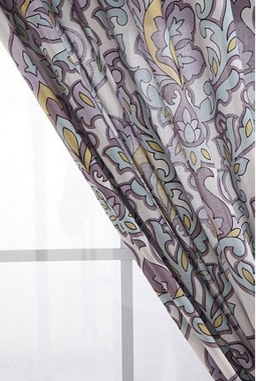 Floral Medallion Curtain contemporary curtains